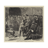 Communist Prisoners at Versailles Receiving Visitors Giclee Print by Henry Woods