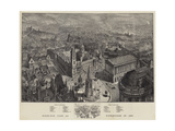 Birds-Eye View of Birmingham in 1886 Giclee Print by Henry William Brewer