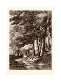 Entrance to the Fore Walk, Wotton, Surrey Giclee Print by George N. Barnard