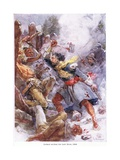 Dollard Strikes His Last Blow 1658, C.1920 Giclee Print by Henry Sandham