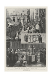 Gaining the Holy Year Jubilee in Italian Cities Giclee Print by G.S. Amato