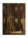 Interior of the Church of St. Lawrence, Nuremberg, C.1875 Giclee Print by Henry Thomas Schafer