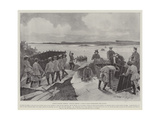 Russian Military Methods, Cossacks Crossing a River in Boats Extemporised from Wagons Giclee Print by Henry Charles Seppings Wright