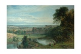 Landscape with Castle and River and Chepstow Castle, 1862 Giclee Print by Henry Dawson