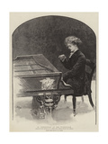 M Paderewski at the Pianoforte Giclee Print by Henry Marriott Paget