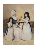 The Mansion of Peace: Mrs Campell and Her Two Daughters Beside a Pianoforte Giclee Print by Henry Edridge