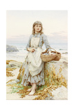The Mussel Gatherer Giclee Print by Henry James Johnstone