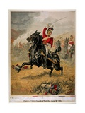 Charge of the 1st Life Guards at Waterloo, 18 June 1815, C.1890 Giclee Print by Henry A. Payne