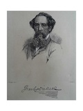 Charles Dickens, after a Photograph by John Watkins, Late 1850S Giclee Print by J. Brown