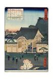 Temple at Tsukiji, November 1862 Giclee Print by Hiroshige II