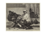 Pilgrims at the Foot of the Obelisk of Sixtus V at Rome Giclee Print by Hippolyte Delaroche