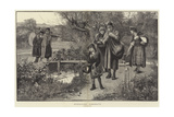 Strolling Acrobats Giclee Print by Herbert Gandy