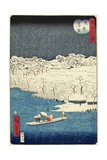 Evening Snow at Hashiba, November 1861 Giclee Print by Hiroshige II
