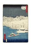 Evening Snow at Hashiba, November 1861 Giclee Print by Hiroshige II