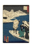 Snow at Hashiba, July 1864 Giclee Print by Hiroshige II