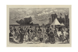 Her Majesty's Garden Party at Windsor Castle Giclee Print by Henry Woods