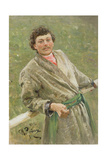 The Byelorussian, Portrait of the Peasant S. Shavrov, 1892 Giclee Print by Ilya Efimovich Repin