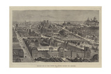 Bird'S-Eye View of Paris, Showing the Principal Buildings Now Destroyed Giclee Print by Henry William Brewer