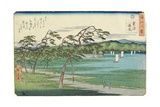 Clearing Weather at Awazu, February 1859 Giclee Print by Hiroshige II