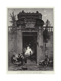 Gateway of the Villa Cavallieri, Rome Giclee Print by Herman David Salomon Corrodi