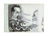 Friedrich Wilhelm Nietzsche (1844-1900) 8 December 1988 Giclee Print by Horst Janssen