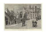 Picturesque London, the Middle Temple Hall and Gardens Giclee Print by Henry William Brewer