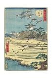 Homing Geese at Shirahige, November 1861 Giclee Print by Hiroshige II