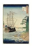 A Beach, Taishu Province, October 1860 Giclee Print by Hiroshige II