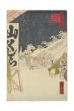 Bikuni Bridge in Snow, 1858 Giclee Print by Hiroshige II