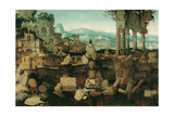 Landscape with Roman Ruins, 1536 Giclee Print by Herman Posthumus