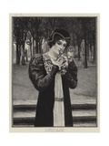 A Message of Love Giclee Print by Herbert Gustave Schmalz