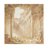 A Colonnade in Ruins, 1780 Reproduction procédé giclée par Hubert Robert