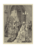 The Marriage of the Duke of Connaught, at the Top of the Grand Staircase, Going to Luncheon Giclee Print by Henry Woods