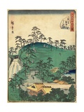 No.44 Twelve Shirines of Kumano at Tsunohazu, January 1861 Giclee Print by Hiroshige II