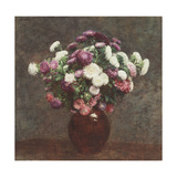 Asters in a Vase, 1875 Giclee Print by Ignace Henri Jean Fantin-Latour