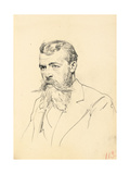 Portrait of a Man with Moustache and Beard, C. 1872-1875 Giclee Print by Ilya Efimovich Repin