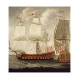 Two Views of East Indiaman of Time of King William Iii, Ca 1685 Giclee Print by Isaac Sailmaker