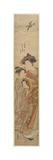 The Courtesan Hinazuru of the Chojiya House Giclee Print by Isoda Koryusai