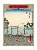 No.42 Shichirigahama Beach in Miya, 1865 Giclee Print by Hiroshige II