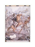 The Two Began a Combat Whereon All around Paused to Look Giclee Print by Herbert Cole