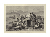 Smuggling at Gibraltar Giclee Print by Henry Woods
