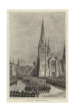 The Procession Passing the Reverend Newman Hall's Church (Christ Church) in Westminster Bridge Road Giclee Print by Henry William Brewer