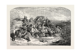 Halt-Smugglers, Exhibition of the National Institution, 1851 Giclee Print by Henry Perlee Parker