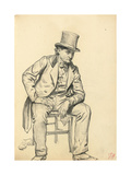 Seated Man, Arm Leaning on His Leg, C. 1872-1875 Giclee Print by Ilya Efimovich Repin
