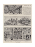 The Great Central Railway, the London Terminus Giclee Print by Henry William Brewer