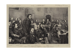 A Meeting of the London School Board in the Council Chamber, Guildhall Giclee Print by Henry Woods