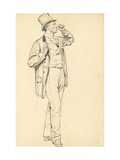 Study for 'A Parisian Cafe': Standing Man with Raised Arm, C. 1872-1875 Giclee Print by Ilya Efimovich Repin