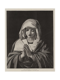 The Madonna in Prayer Giclée-tryk af Il Sassoferrato