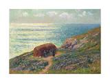 Seaweed Pickers at Moelan, Bretagne, 1900 Giclee Print by Henry Moret