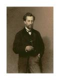 Portrait of Mikhail Konstantinovich Klodt (1832-1902), 1871 Giclee Print by Ivan Nikolaevich Kramskoy